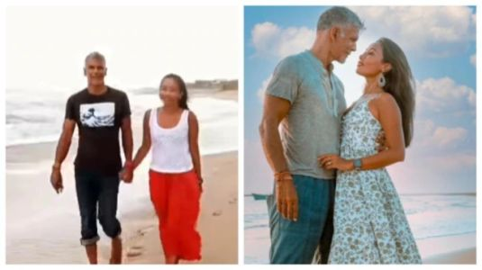 Milind Soman and Ankita Konwar explore Gujarat beach on a breezy day in loved-up post. Watch