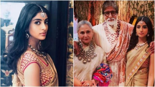 Navya Naveli Nanda wears grandma Jaya's saree to Isha Ambani wedding