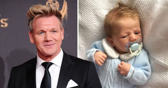 Four-week-old baby is the spitting image of Gordon Ramsay
