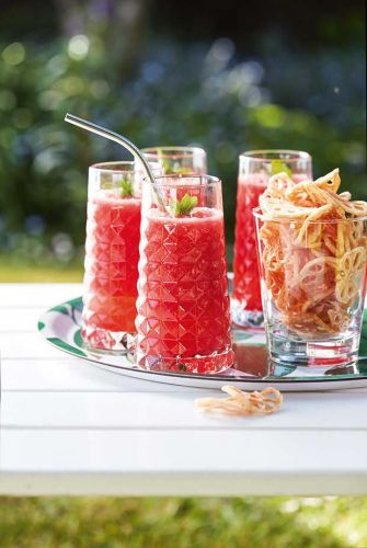 Summer recipes: Iced Watermelon Smoothies and Lotus Root Crisps