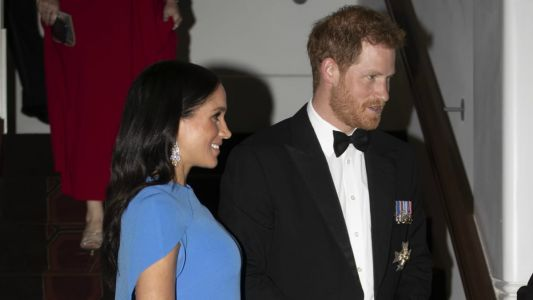 Meghan Markle Wore a Thing: Safiyaa Cape Dress in Fiji Edition
