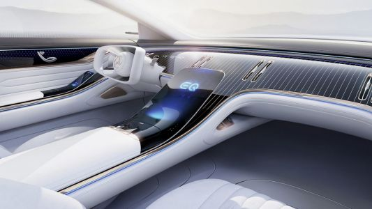 A first glimpse of the Mercedes-Benz Vision EQS Concept, releasing in the near future
