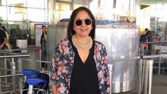 Neena Gupta pairs statement jewellery with co-ord jacket and pants at airport. Goals, we say