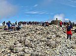 Climbers ignore social distancing rules at the top of Ben Nevis