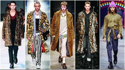 Leopards roar in Milan: Menswear week saw cat prints dominating the runway
