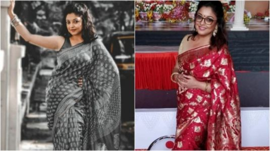 Tanushree Dutta's love for ethnic sarees and silver jewellery. On Fashion Friday