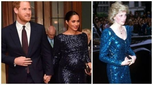 Pregnant Meghan Markle pays a moving fashion tribute to Princess Diana on date night