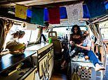 Couple sell their possessions to live a plastic-free life on the road in a Volkswagen van