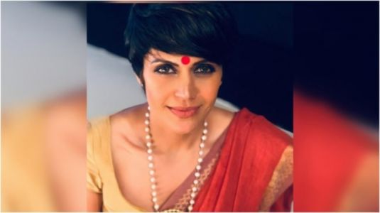 Mandira Bedi stuns in pretty saree and statement jewellery in new Instagram post. See pic