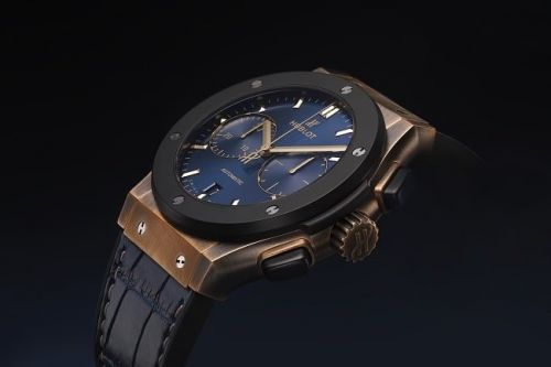 The Hublot Classic Fusion Bronze Bucherer Blue Editions