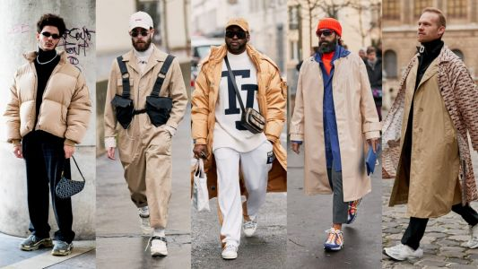 Khaki Got a Street Style Upgrade at Paris Fashion Week Men's