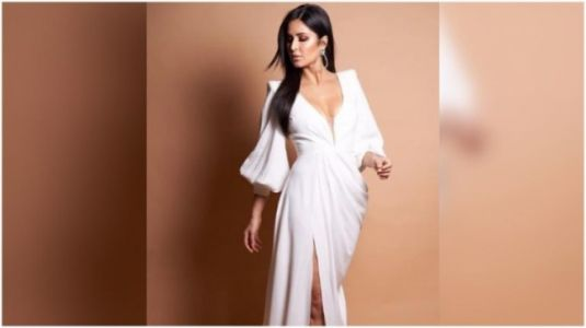 Katrina Kaif in satin dress worth Rs 2 lakh is a vision in white at Mumbai event. All pics