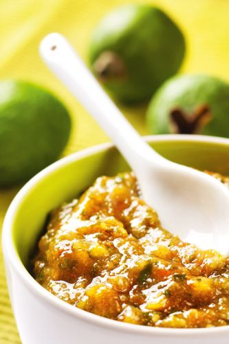 Recipe: Feijoa & Rhubarb Relish