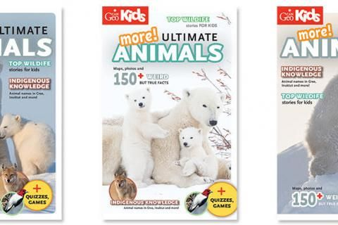 Help us choose the cover for Can Geo Kids More Ultimate Animals