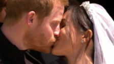 Royal Wedding: Prince Harry And Meghan Markle's First Kiss
