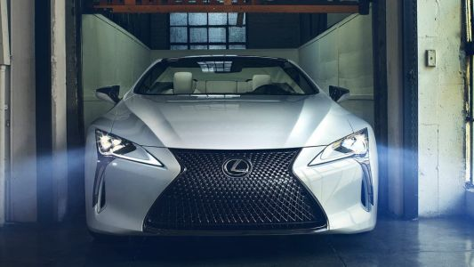 The Lexus LC Convertible Concept makes its coupé counterpart look tame