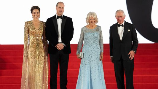 Kate Glitters In Gold Gown At James Bond Premiere Red Carpet