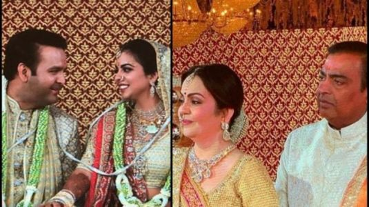 Isha Ambani wedding inside pics and videos: Mukesh Ambani gets emotional