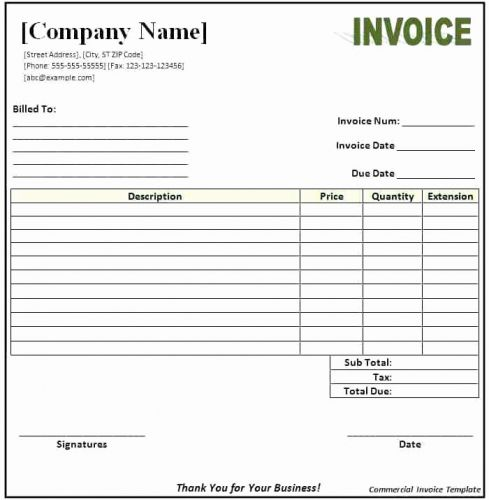 30 Beautiful Billing Invoice Template Word Images