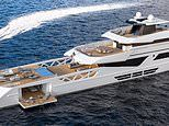 Zip and dip! Superyacht boasts a helicopter landing spot and glass bottomed pool