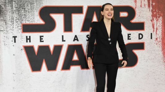 Daisy Ridley's Badass 'Star Wars' Press Tour Continues With a Mugler Tuxedo