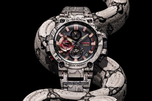 G-SHOCK and Wildlife Promising Team Up For a Python-Inspired Timepiece