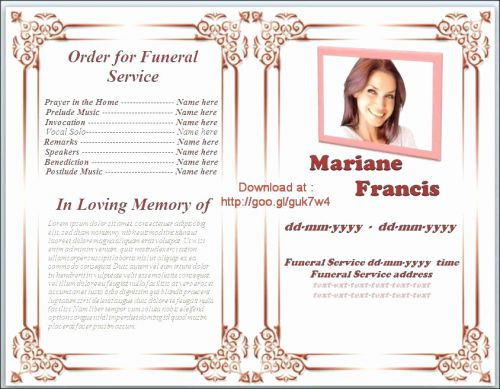 30 Unique Sample Funeral Program Template Pictures