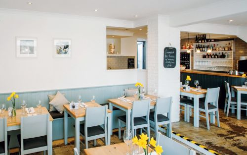 William Sitwell reviews 2 Fore Street, Mousehole: 'The restaurant is a springlike wash of white and light blue, and the menu a merry dance of bistro classics'
