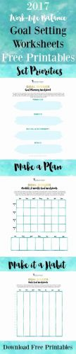 30 Best Of Personal Goal Setting Template Images