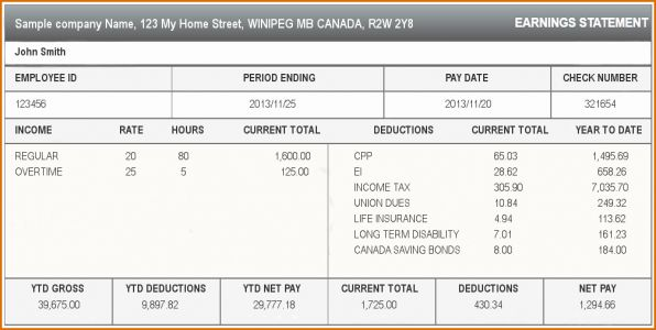 30 Fresh Pay Stub Template Pdf Pictures