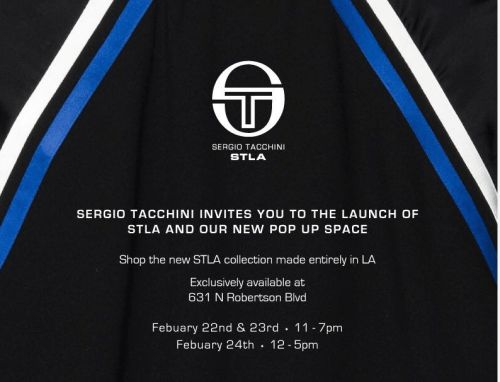 Sergio Tacchini Launches STLA And New Pop Up Space In Los Angeles From 2/22 - 2/24